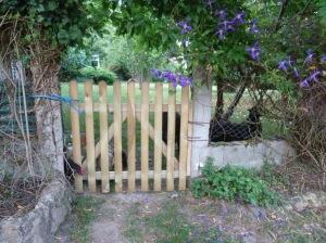Gate nearly done.